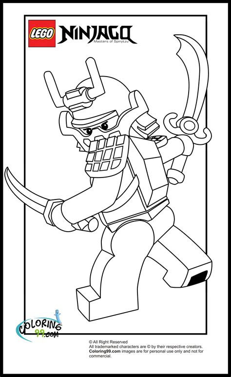 ninjago samurai free coloring pages