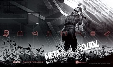 ps4 themes metal gear solid metal gear solid 4 v 2 0 playstation universe