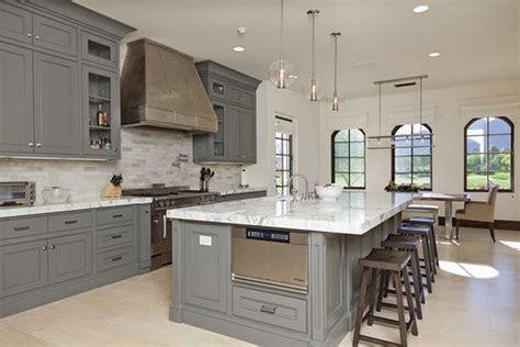 large kitchen islands light gray kitchen cabinet colors how to use gray around the house without making it look boring