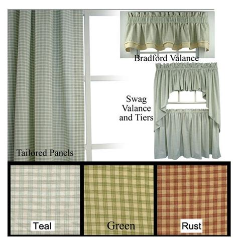 country curtains ma curtains plaid and valances on pinterest