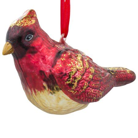 unique red cardinal christmas ornaments 3 quot cardinal bird glass ornament walmart