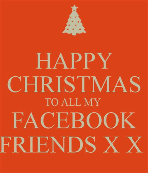 happy christmas    facebook friends   poster rachel  calm  matic
