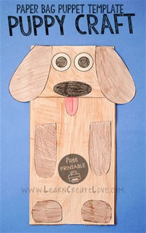 dog puppet pattern paper bag paper bag dog puppet puppet template and puppet crafts