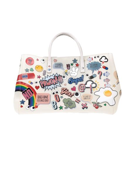 Robur Bag S 13 lyst anya hindmarch white all stickers maxi