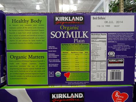 costco kirkland milk kirkland signature organic plain soy milk