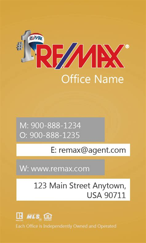 remax business cards templates vertical remax business card with design 101444