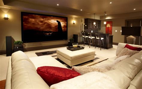 Living Room Ideas Big Tv Park Side Retreat Transitional Basement Toronto By
