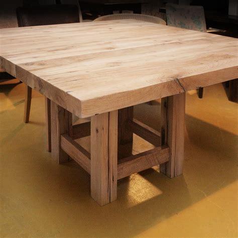 vierkante eettafel oud hout vierkante eiken eettafel op maat gerard keune meubels op