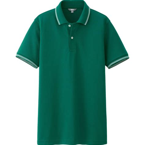 Uniqlo Pique Polo Shirt 2 uniqlo pique line sleeve polo shirt in green for lyst