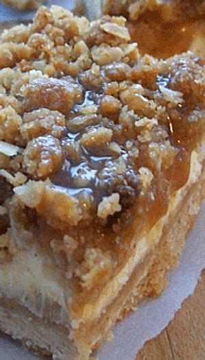 paula deen caramel apple cheesecake bars with streusel topping 17 best ideas about caramel apple cheesecake bars on