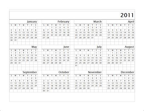 Calendar Of 2011 Allround 2011 Calendar