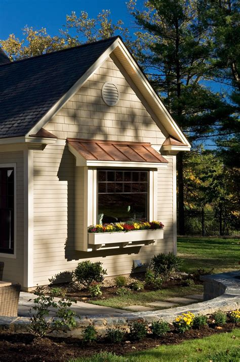 Metal Window Awnings Box Bay Window Exterior Traditional With Grass Lawn Metal