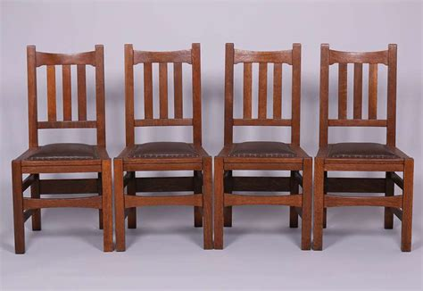 set of 4 stickley brothers 379 1 2 dining chairs