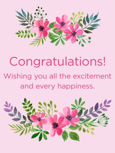 Congratulations Flowers by Pink Flowers Congratulations Card Birthday Greeting
