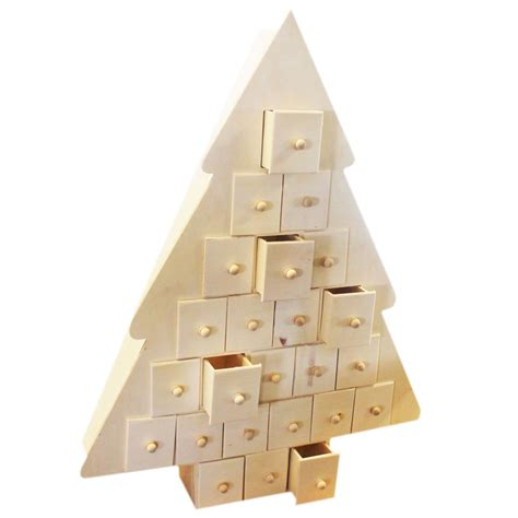 Handmade Wooden Advent Calendar - wooden tree advent calendar handmade