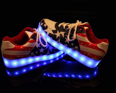 name brand light up shoes light up led shoe disco clubbing flash led light