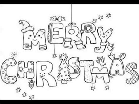 merry christmas coloring pages   merry christmas coloring sheets printables youtube