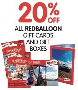 Red Balloon Gift Card - expired get 20 off all red balloon gift cards at big w gift cards on sale