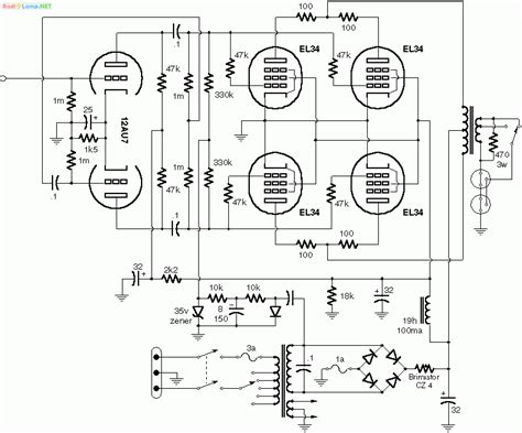 parallel push pull 6l6 lifier schematic get free