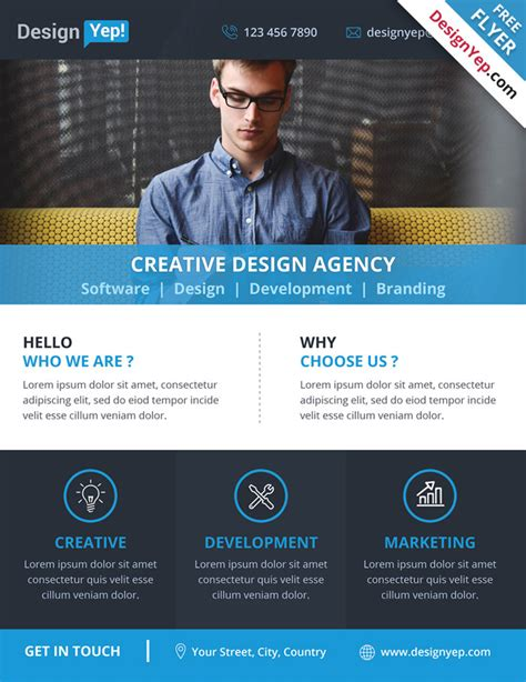 business flyer templates psd 32 free business flyer templates psd for designyep