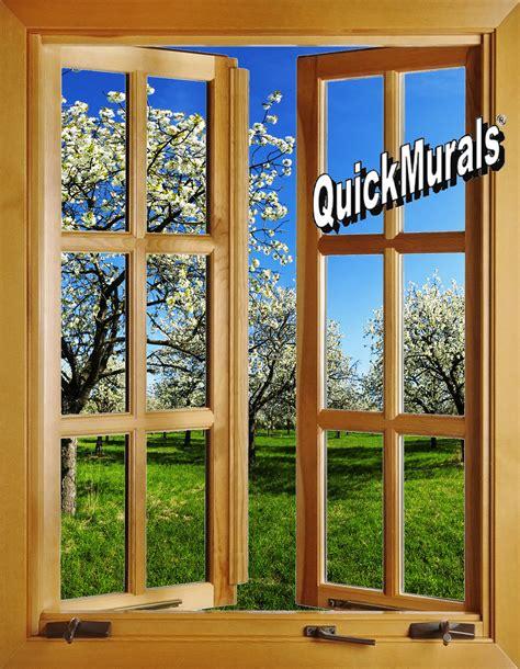 window wall murals apple blossom window open 1 peel stick wall mural