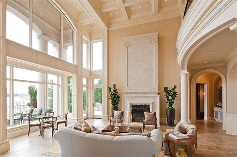 tall ceilings boulevard place mediterranean living room seattle