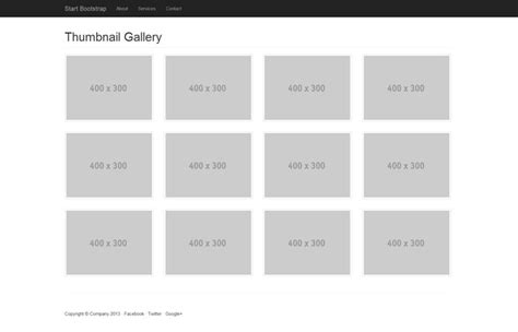bootstrap layout gallery start bootstrap thumbnail gallery template for bootstrap 3