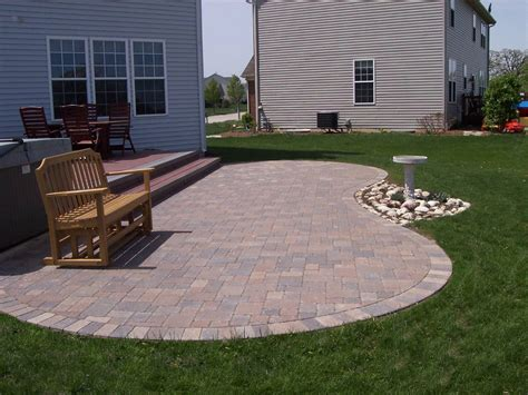 Curved Patio - curved columbus paver patio columbus decks porches and