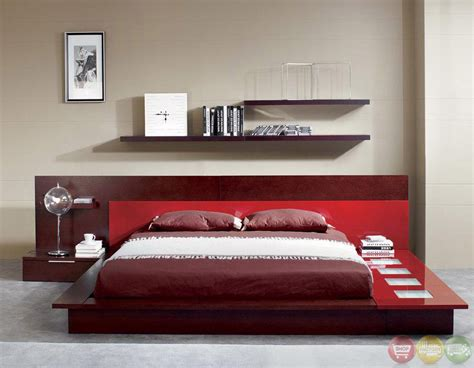 Platform Bed With Lights Rimini Contemporary Walk On Platform Bed With Lights In