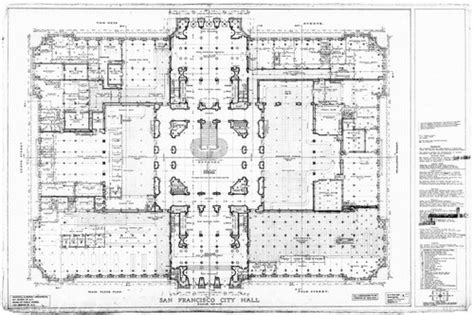 san francisco city hall floor plan calisphere main floor plan san francisco city hall