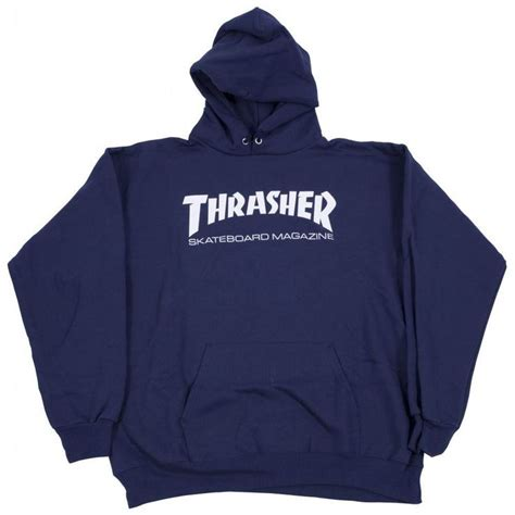 Hoodie Zipper Thrasher Magazine Navy thrasher hoodie skate mag logo navy blue tile lounge skateboard shop thrasher magazine