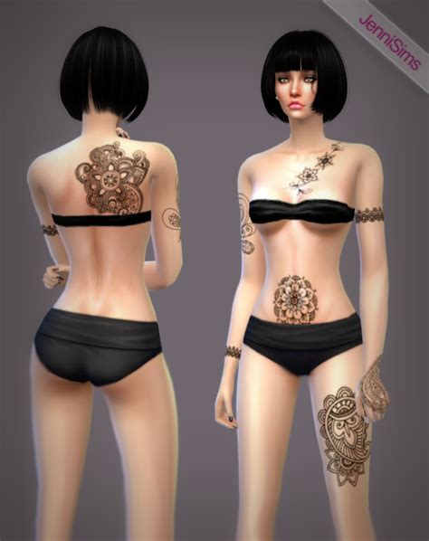 Tetonis Ts 24 Black 1 my sims 4 henna tattoos by jennisims