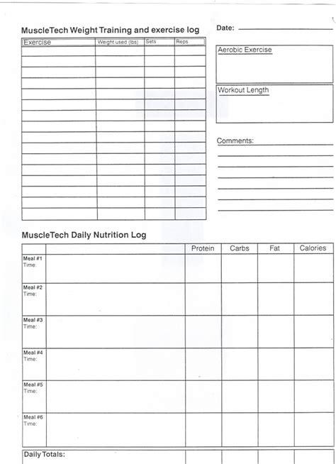 workout log sheets pin blank workout log on