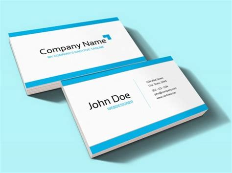44 free clean and simple white business card template in
