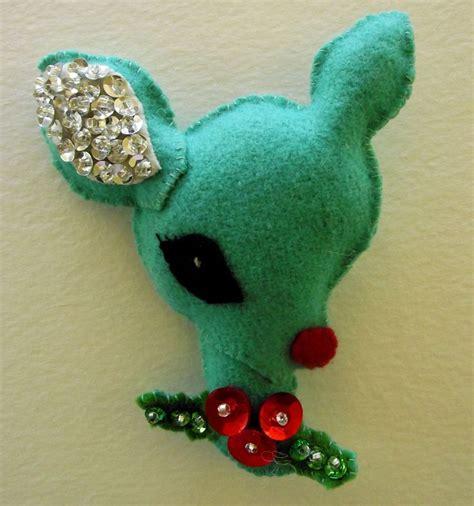 felt reindeer pattern free reindeer ornament felt pinterest