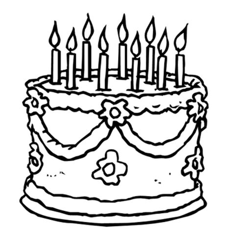 Birthday Cake Coloring Pages Coloring Pages