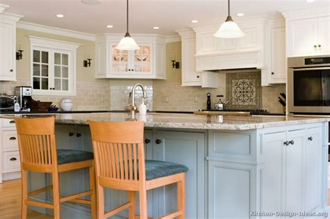 image blue gray kitchen white cabinets