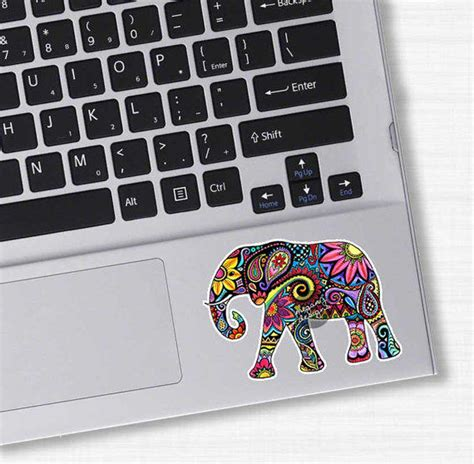 Stiker Evos Small Size small elephant car decal colorful design from meganjdesigns