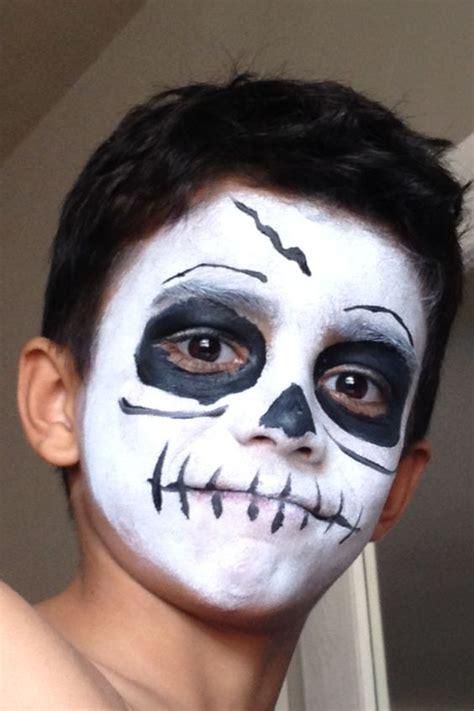 face painting  boys skeleton liam pinterest