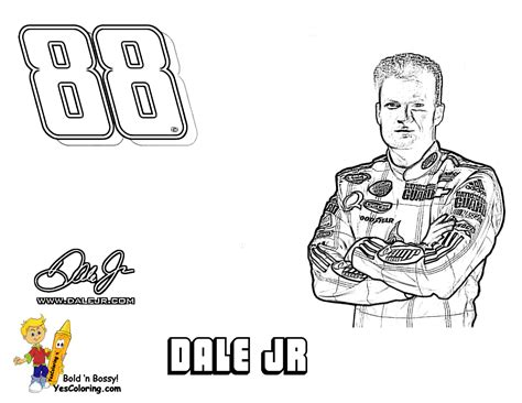 dale earnhardt coloring page full force race car coloring pages free nascar