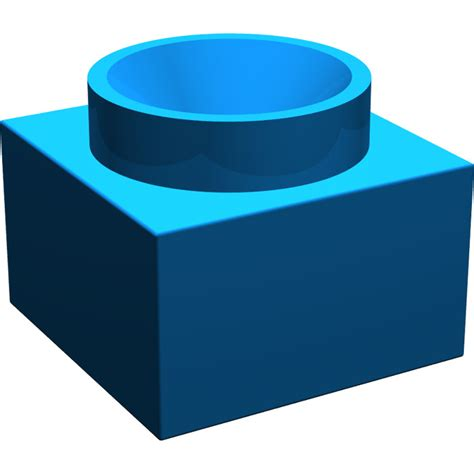 X Support Blue lego blue support 2 x 2 x 11 solid pillar base 6168