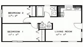 bedroom house simple plan two plans designs lrg cabin floor