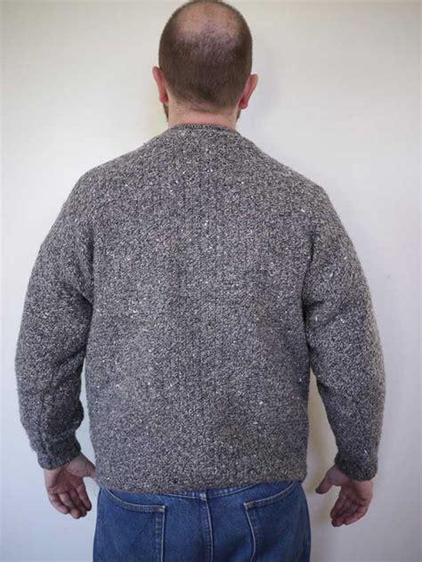 scottish knitting style vintage scottish chunky cable knit grey 100 wool