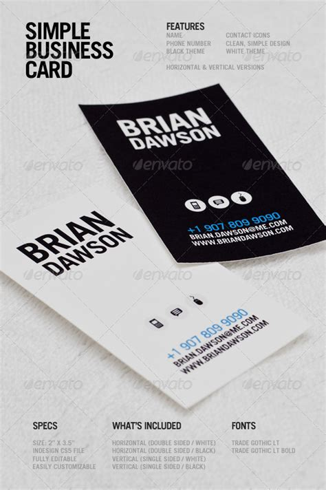 single sided business card template psd simple business card by psolanoy graphicriver