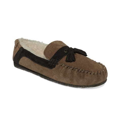emu shoes emu shoes tassel slippers in brown for