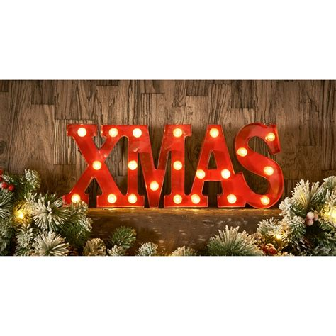 christmas themed light  words xmas room decorations