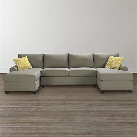 Double Chaise Sectional Solid Or Pattern