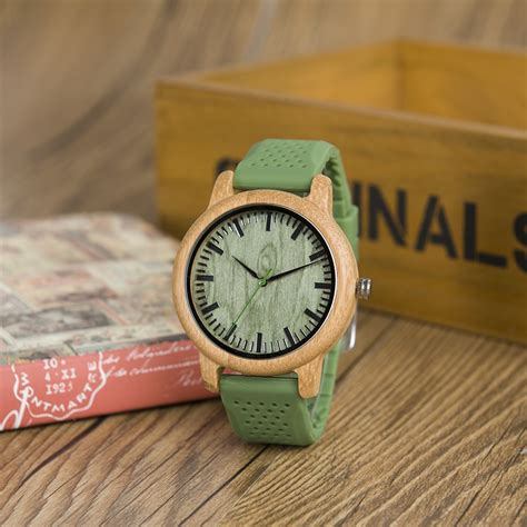 Jam Tangan Bambu Bobo Bird bobo bird jam tangan bambu analog pria wb06 green