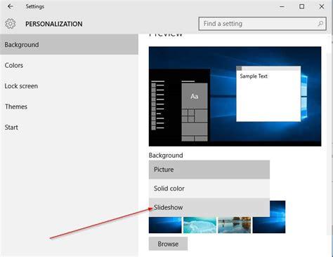 wallpaper slideshow windows 10 not working how to change desktop background in windows 10