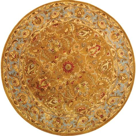 foot rug safavieh heritage green gold 8 ft x 8 ft area rug hg811a 8r the home depot